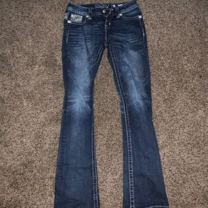 Size 26 boot cut miss me jeans.